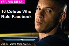 10 Celebs Who Rule Facebook