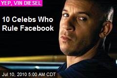 10 Celebs Who Rule Facebook