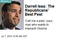 Darrell Issa: The Republicans' Best Pest