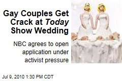 Gay Couples Get Crack at Today Show Wedding