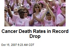 Cancer Death Rates in Record Drop