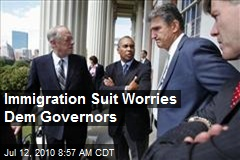 Immigration Suit Worries Dem Governors