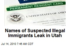 Names of Suspected Illegal Immigrants Leak in Utah