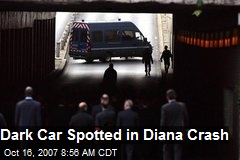 Dark Car Spotted in Diana Crash