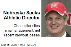 Nebraska Sacks Athletic Director
