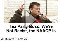 Tea Party Boss: We're Not Racist, the NAACP Is