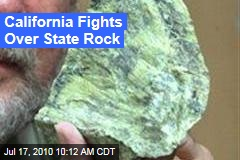California Fights Over State Rock
