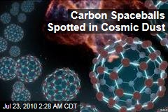 Carbon Spaceballs Spotted in Cosmic Dust