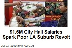 $1.6M City Hall Salaries Spark Poor LA Suburb Revolt