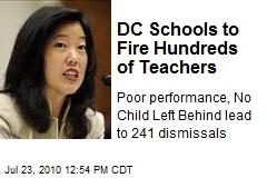 DC Schools to Fire Hundreds of Teachers