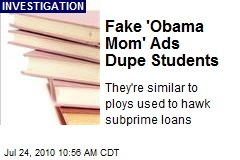 Fake 'Obama Mom' Ads Dupe Students