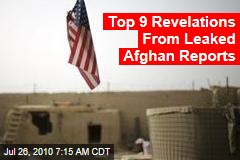 Top 9 Revelations From Leaked Afghan Reports