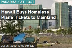 Hawaii Buys Homeless Plane Tickets to Mainland