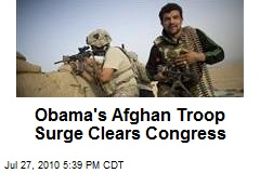 Obama's Afghan Troop Surge Clears Congress