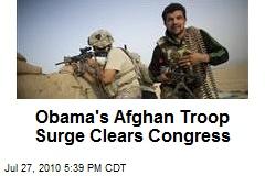 Obama's Afghan Troop Surge Clears Congress