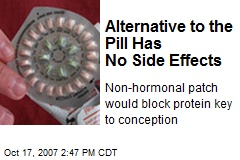 Alternative to the Pill Has No Side Effects