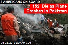 Plane Carrying 152 Crashes in Pakistan