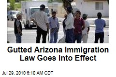 Gutted Arizona Immigration Law Goes Into Effect