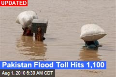 Pakistan Flood Toll Hits 1,100