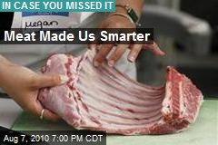 Meat Made Us Smarter