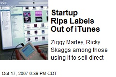 Startup Rips Labels Out of iTunes