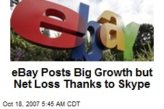 eBay Posts Big Growth but Net Loss Thanks to Skype
