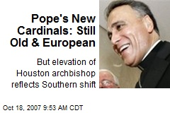 Pope's New Cardinals: Still Old & European