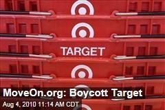 MoveOn.org: Boycott Target