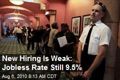 New Hiring Is Weak: Jobless Rate Still 9.5%