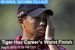 Tiger Has Career's Worst Finish