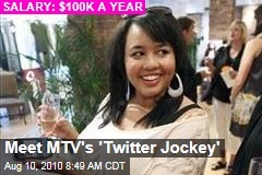Meet MTV's 'Twitter Jockey'