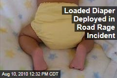 Loaded Diaper Deployed in Road Rage Incident