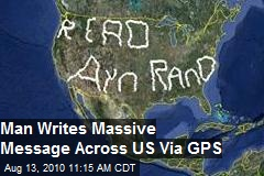 Man Writes Message Across US with GPS and Driving