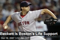 Beckett Is Boston's Life Support