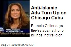 Anti-Islamic Ads Turn Up on Chicago Cabs