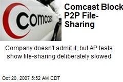 Comcast Blocks P2P File-Sharing