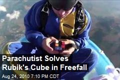 Parachutist Solves Rubik's Cube in Freefall