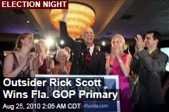 Outsider Rick Scott Wins Fla. GOP Primary