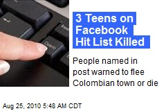 3 Teens on Facebook Hit List Killed