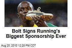 Bolt Signs Running's Biggest Sponsorship Ever