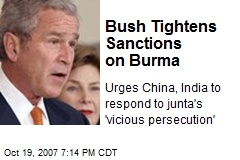 Bush Tightens Sanctions on Burma