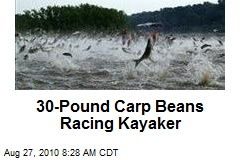 30-Pound Carp Beans Racing Kayaker