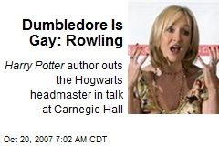 Dumbledore Is Gay: Rowling