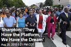 Sharpton: 'They Have the Mall, We Have the Message'