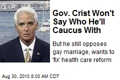 Gov. Crist Won't Say Who He'll Caucus With