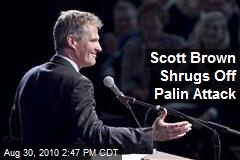 Scott Brown Shrugs Off Palin Attack
