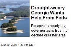 Drought-weary Georgia Wants Help From Feds