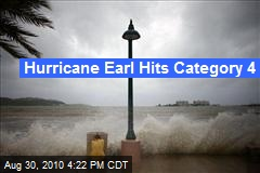Hurricane Earl Hits Category 4