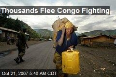 Thousands Flee Congo Fighting