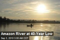 Amazon River at 40-Year Low